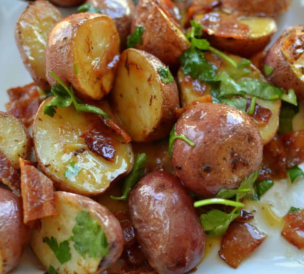 Warm Bacon Honey Mustard Potato Salad