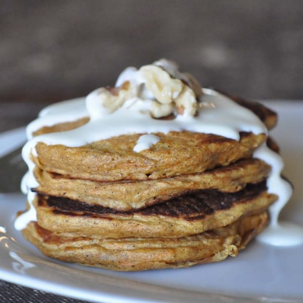 Scrumptious Carrot Cake Pancakes