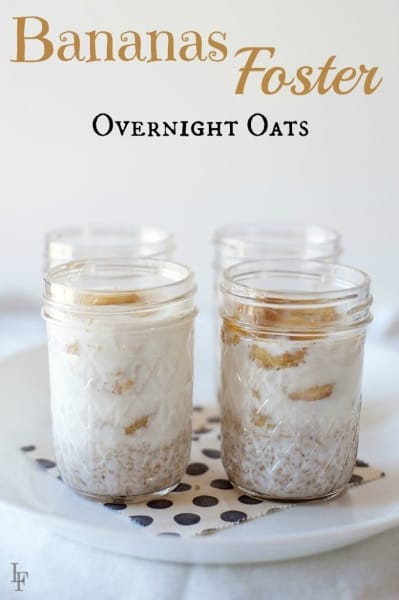 Banana Foster Overnight Oats