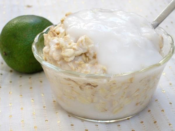 Key Lime Pie Overnight Oatmeal