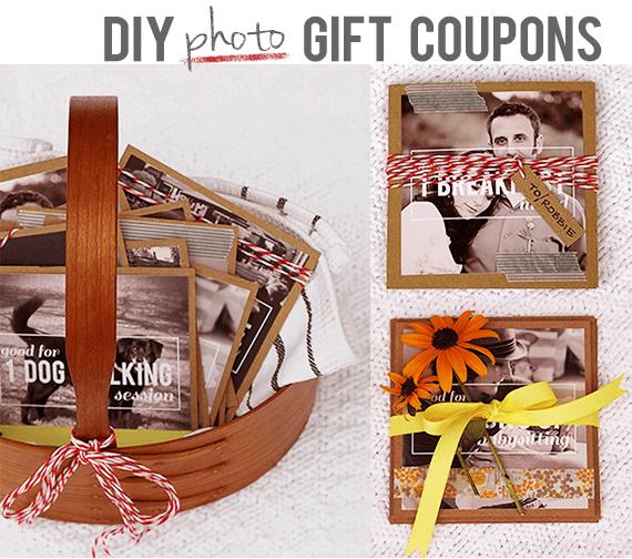 DIY Photo Gift Coupons