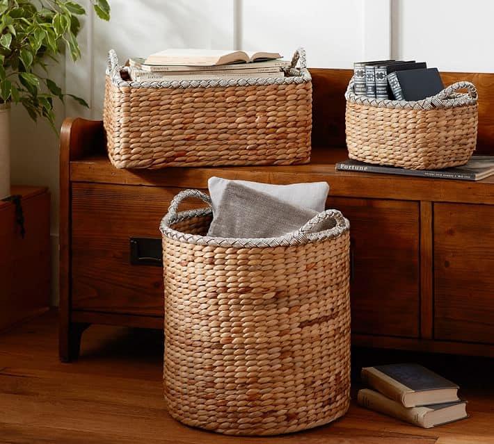 Silver Rimmed Baskets