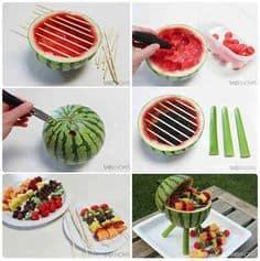 DIY Watermelon Grill Centerpiece