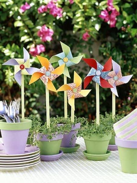 DIY Potted Pinwheels