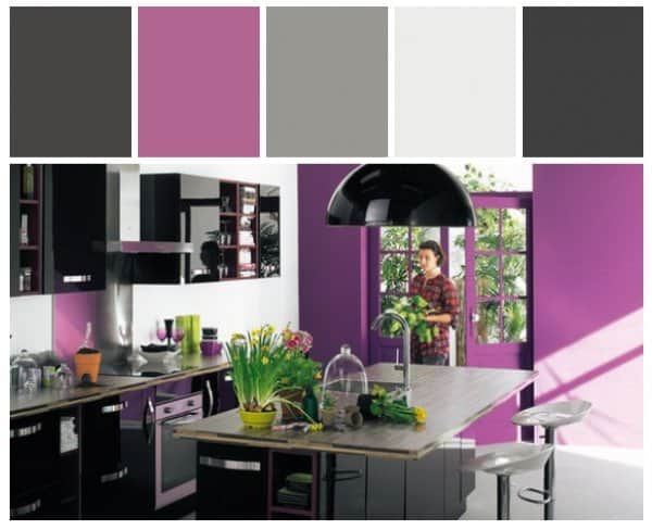 Radiant Orchid Modern Kitchen