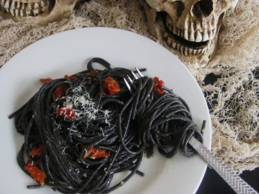 Black Halloween Pasta