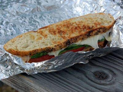 Campfire Tomato Basil Sandwich