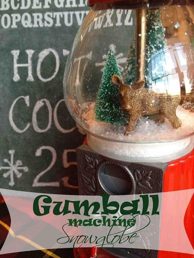 Gumball Machine Snow Globe