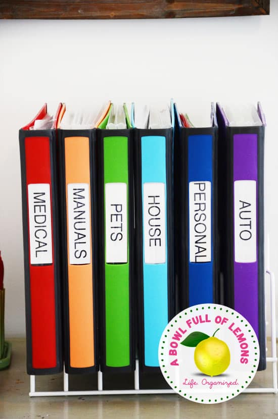 Coloured Organization Binders