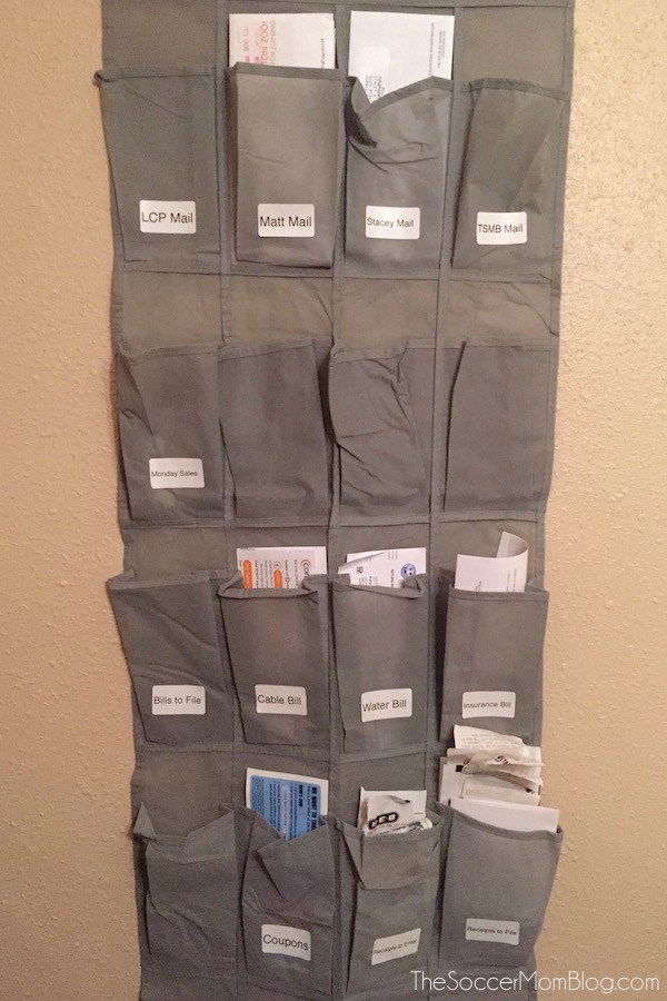 Use a Shoe Organizer for Mail
