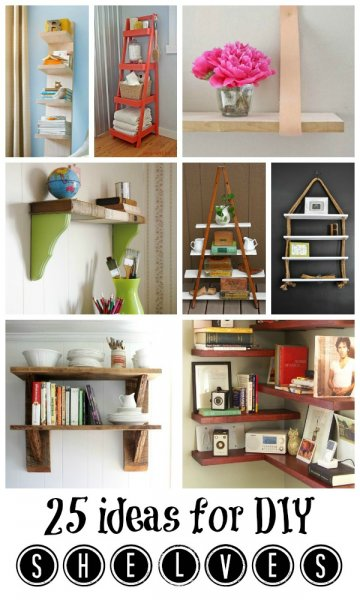 25 Great DIY Ideas for Shelving