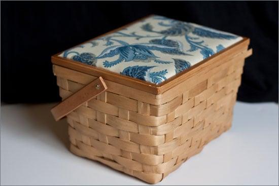 Sewing Basket Turned Picnic Basket