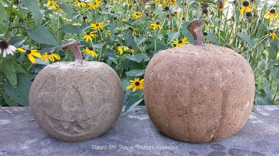 Concrete Pumpkins