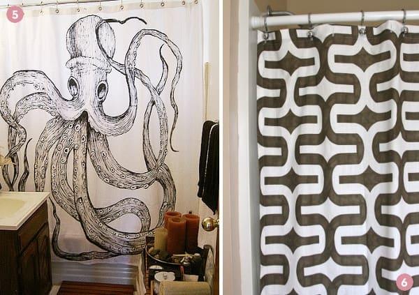Antique Nautical Bathroom Ideas: 6 Chic DIY Shower Curtain Ideas