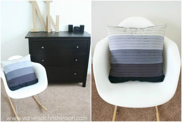 DIY Ombre Pleated Throw Pillow