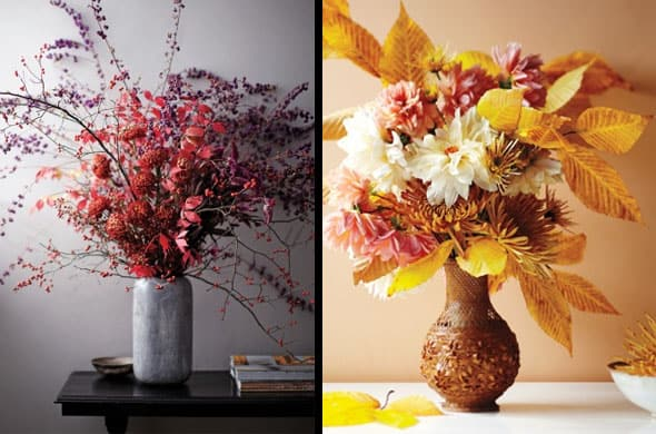 Arrangements Using Fall Leaves