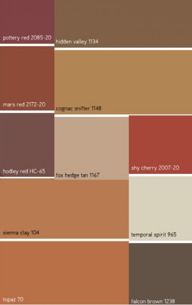 Fall Paint Colours
