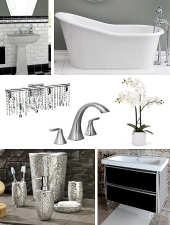Modern Great Gatsby Bathroom Inspiration
