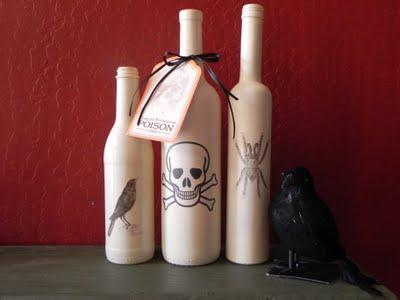 DIY Halloween Bottles
