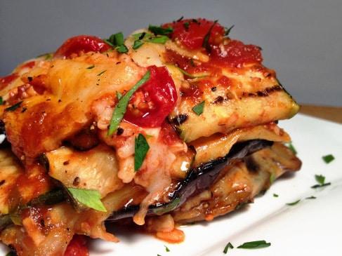 Grilled Garden Lasagna With Basil Marinara