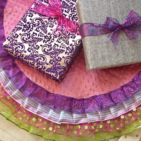 Purple Layered Tree Skirt
