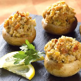 Stuffed Mushrooms with Quinoa Veggie and Herb Filling