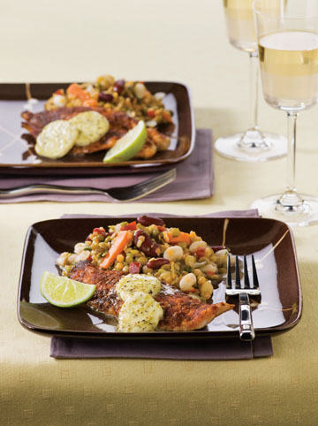Grilled Red Snapper With Lime Butter