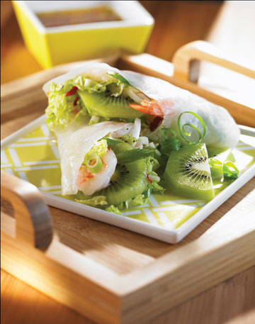 Kiwi and Shrimp Salad Rolls