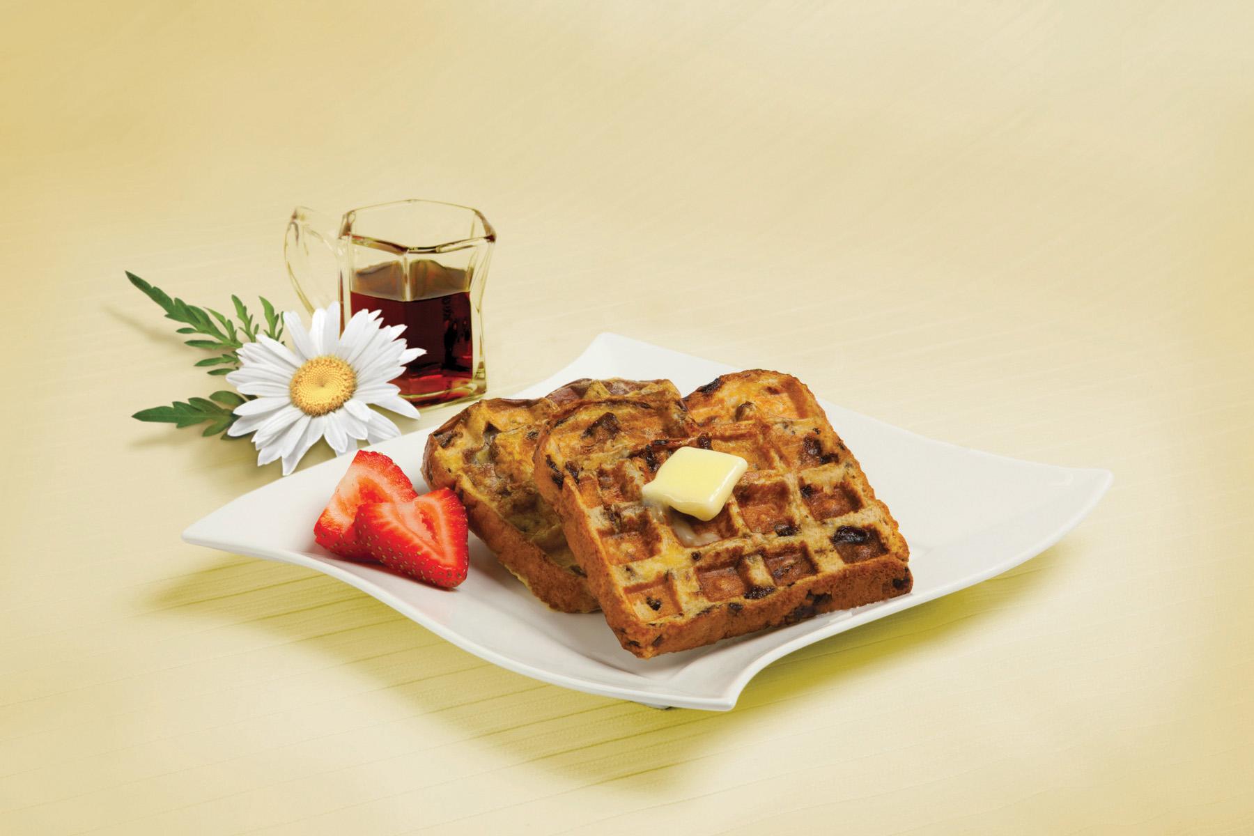 Raisin Bread Waffle-Toast