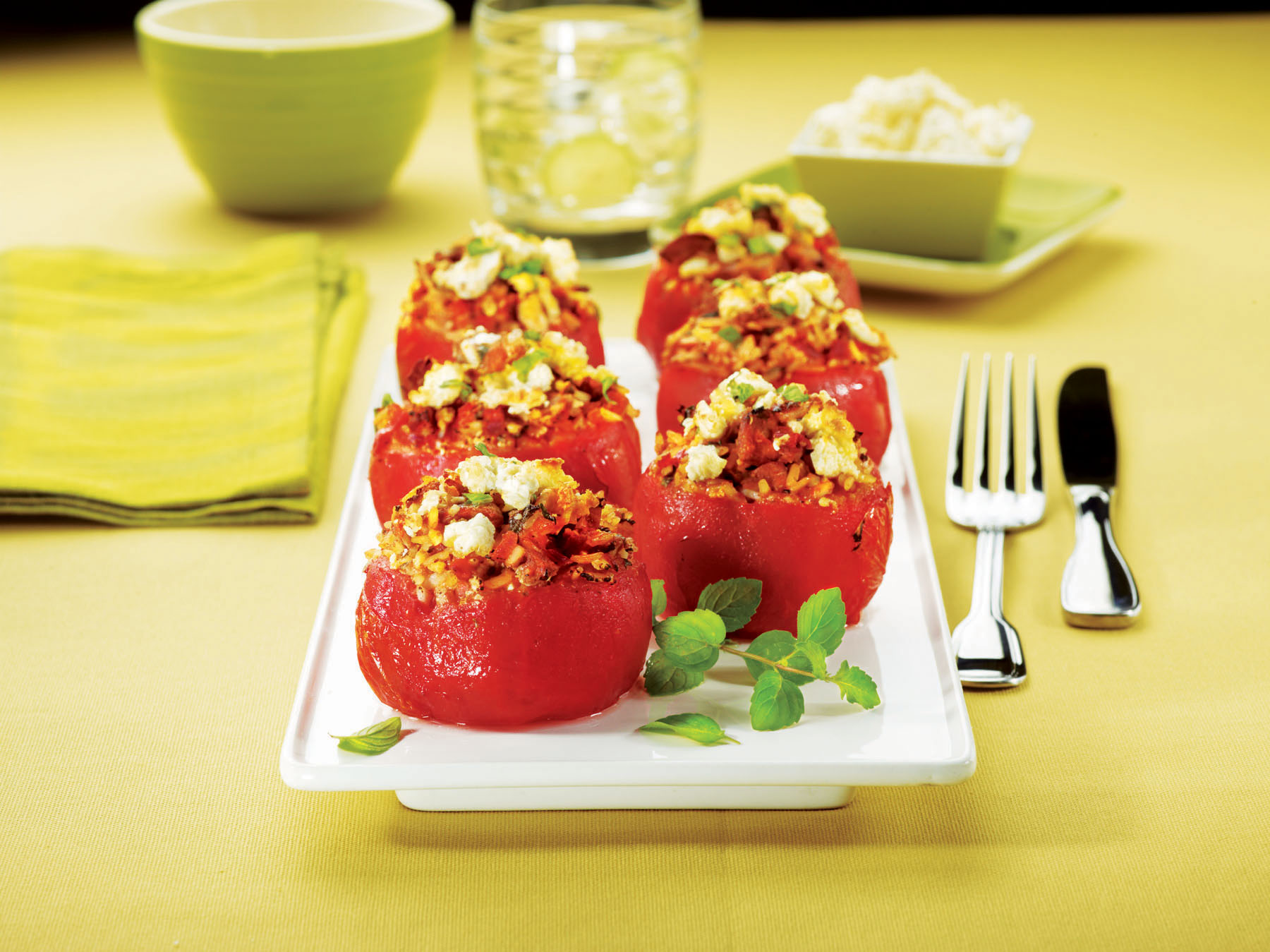 Minty Lamb-Stuffed Tomatoes