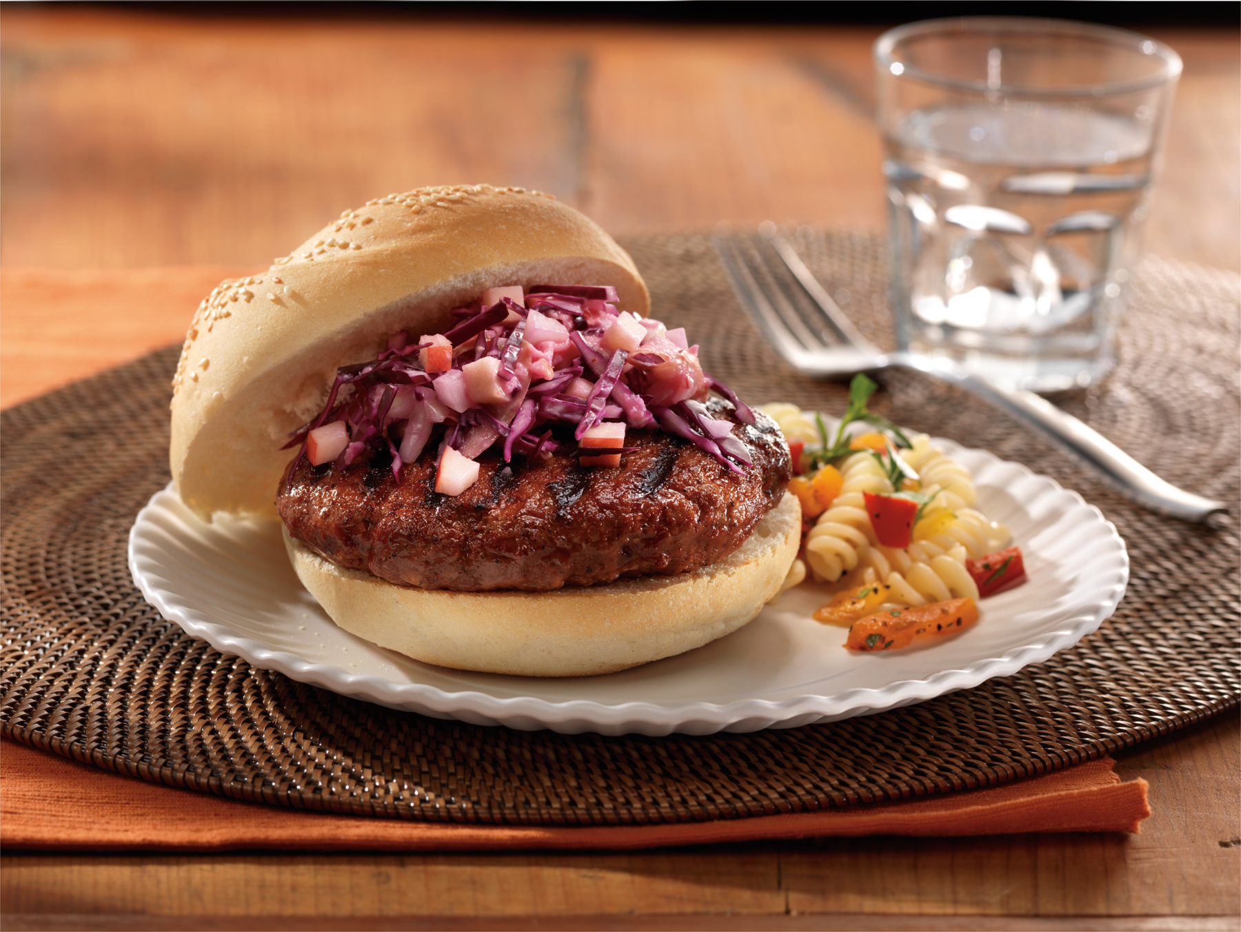 Tandoori Beef Burgers with Tangy Slaw
