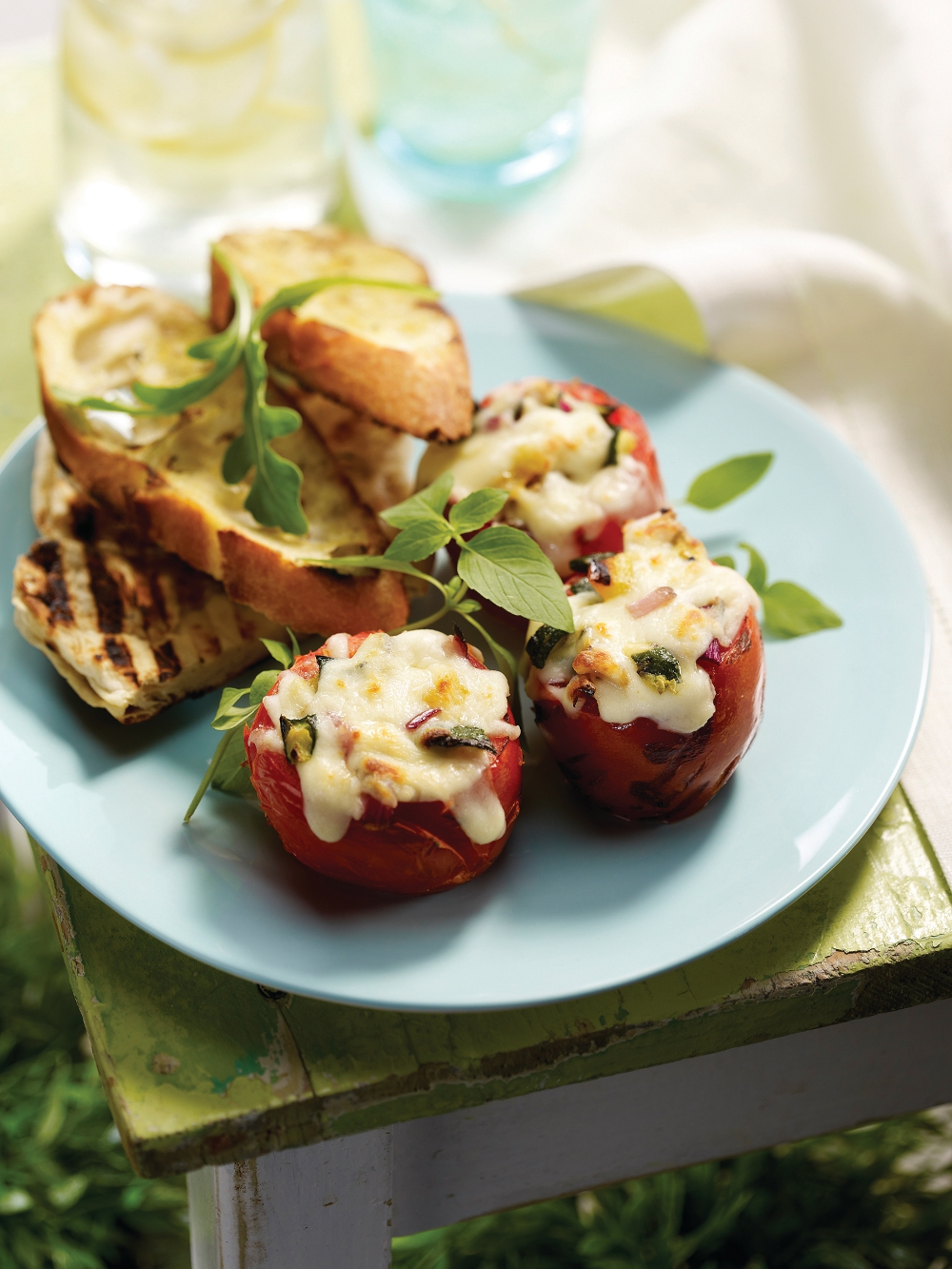 Mozzarellissima Grilled Stuffed Tomatoes