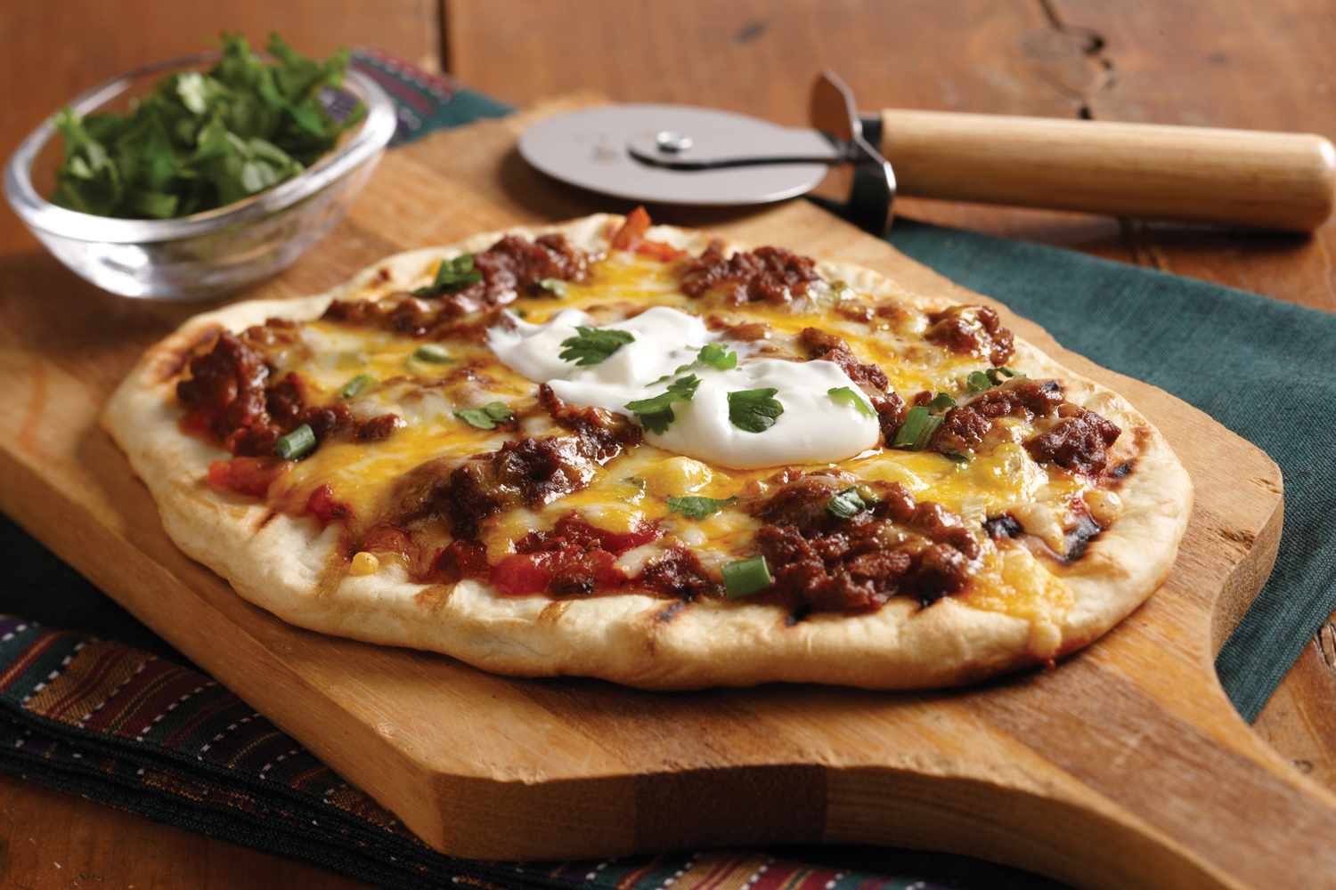 Taco Grilled Pizza