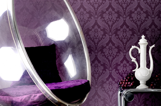 Home trends inspiration with kelly penuita home trends - Purple feature wall living room ideas ...