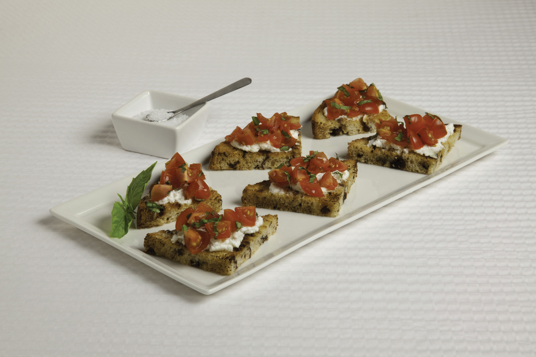 Raisin Bread Crostini with Tomato-Basil Salsa