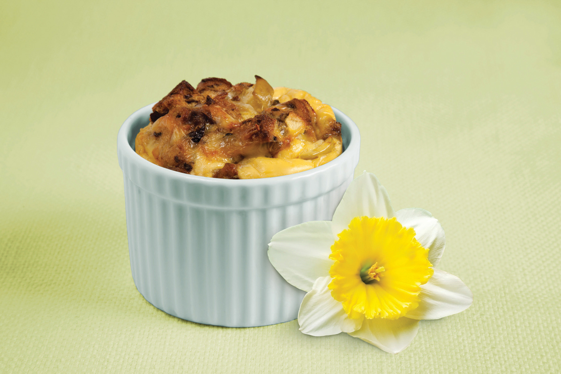 Apple Sausage Raisin Strata