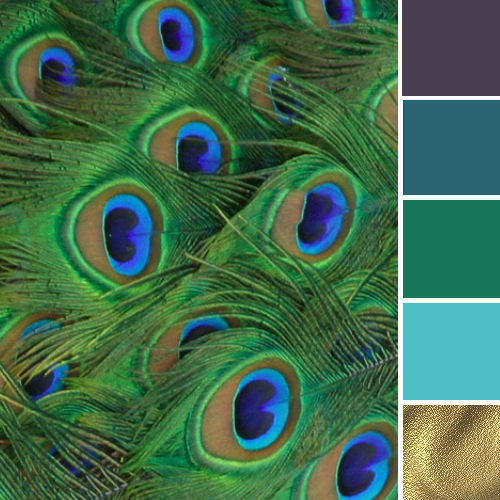 exotic colour palette with emerald green