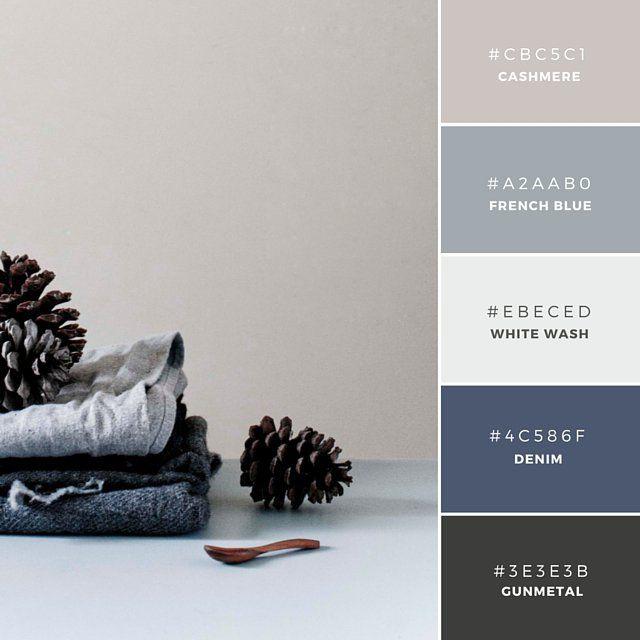 grey and denim blue color palette