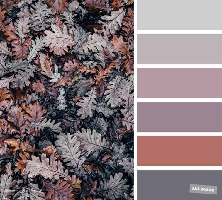 grey and mauve color palette