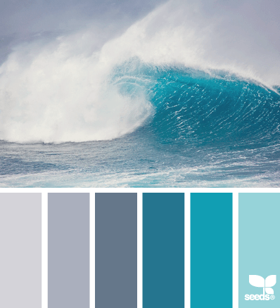 grey and teal color palette