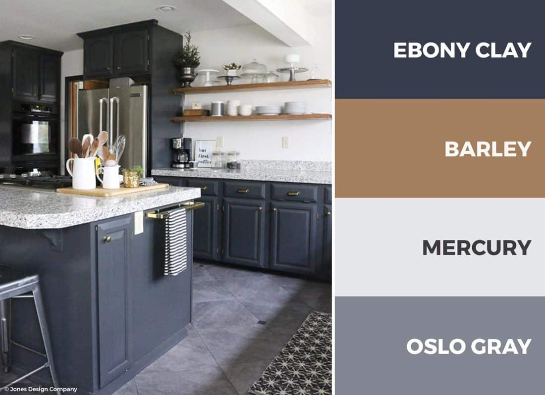 grey and gold color scheme
