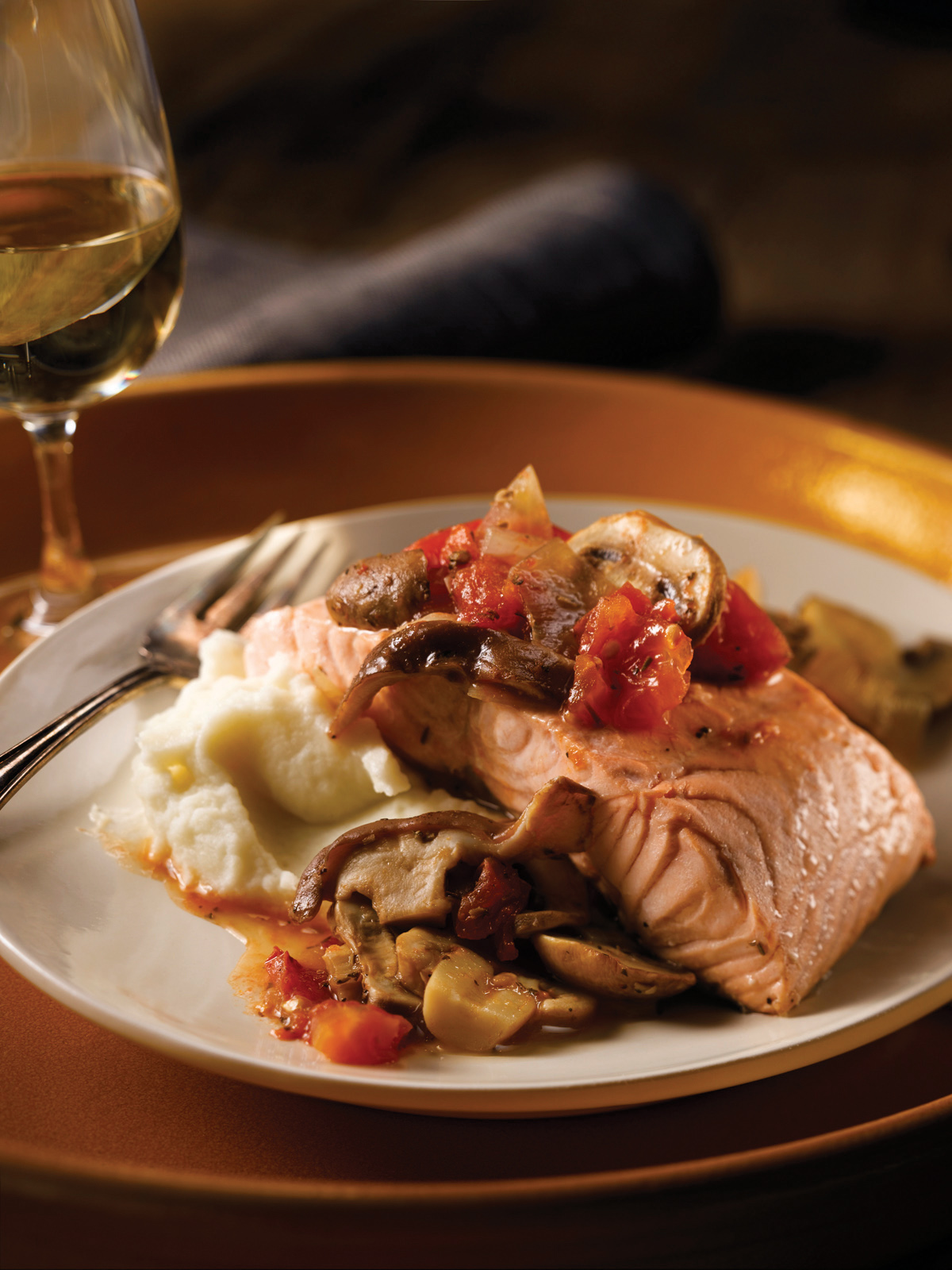 Provencal Poached Salmon Dinner
