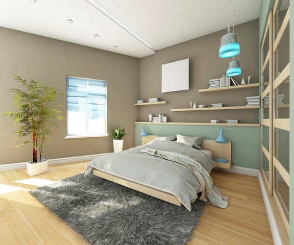 Teen's Bedroom With Carpet