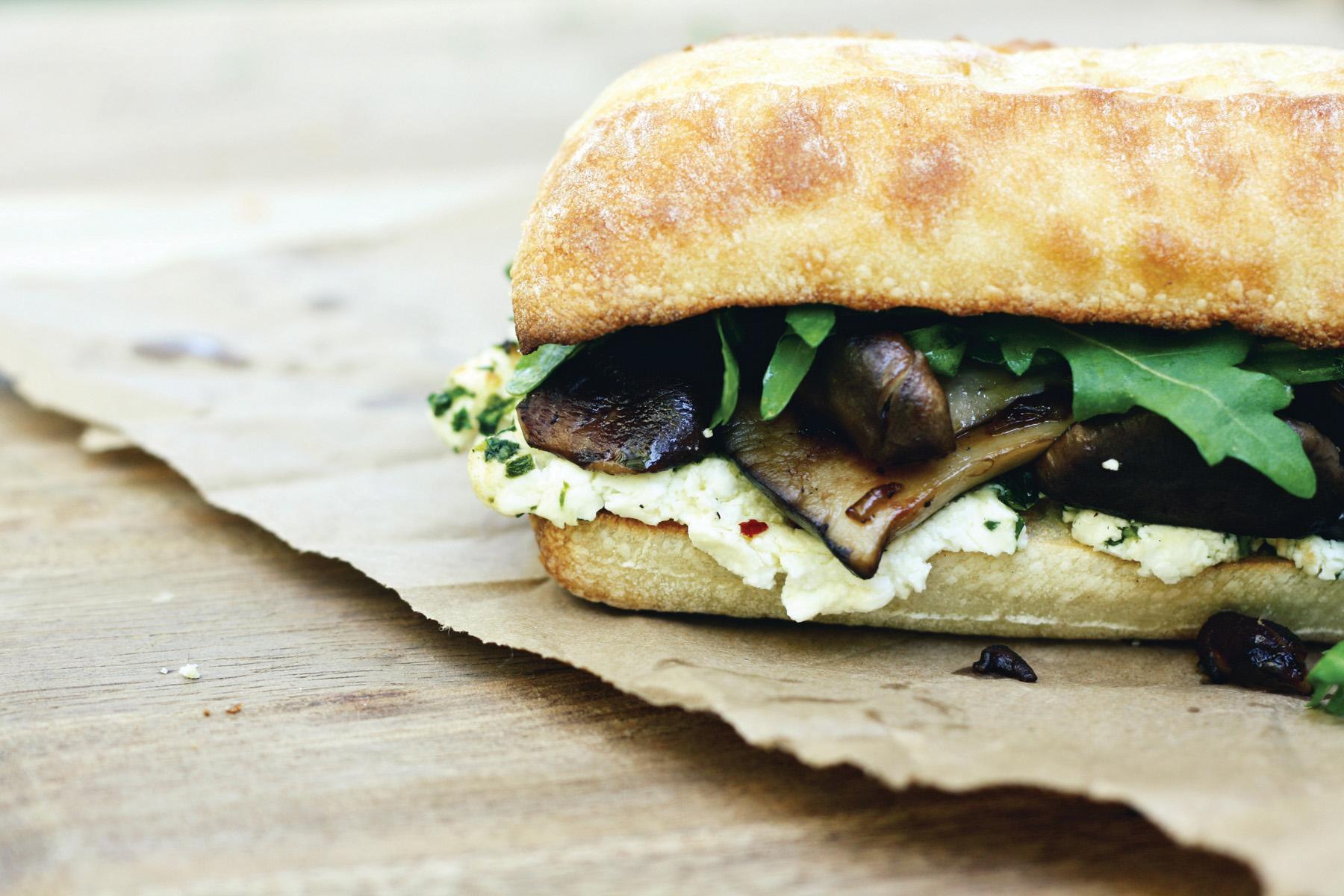 Butter Roasted Mushroom Sandwich
