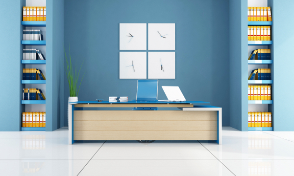 Choosing the best paint colour for a productive inspiring office space home trends magazine - Colors home office can enhance productivity ...