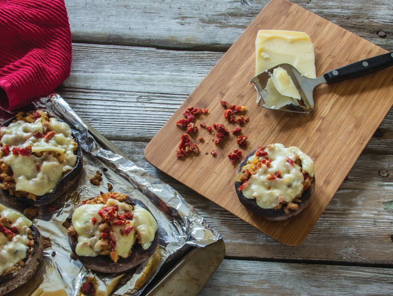 Turkey-Stuffed Portabella Mushrooms