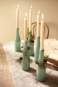 DIY Centerpiece - A Six-pack of Candlelight
