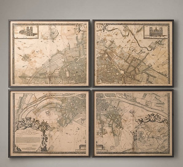 image 4 restoration hardware vintage map