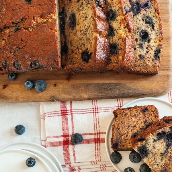 Blueberry-Poppyseed Honey Banana Bread