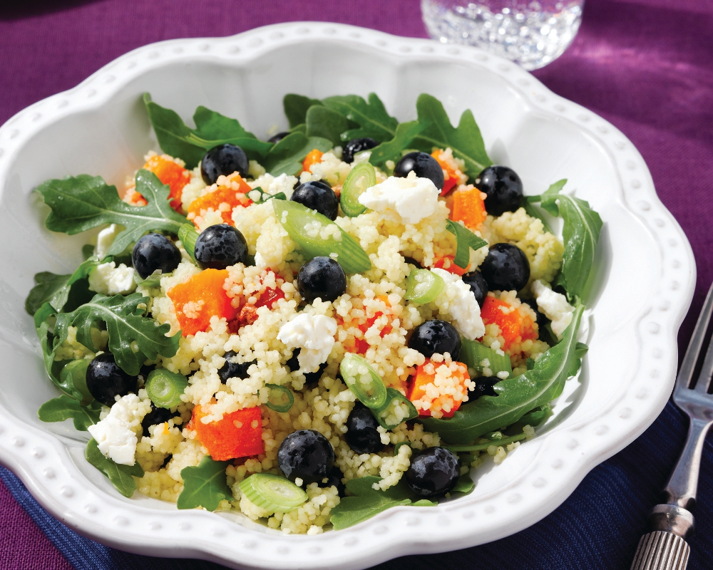 Protein-packed Blueberry, Butternut Squash and Quinoa Salad